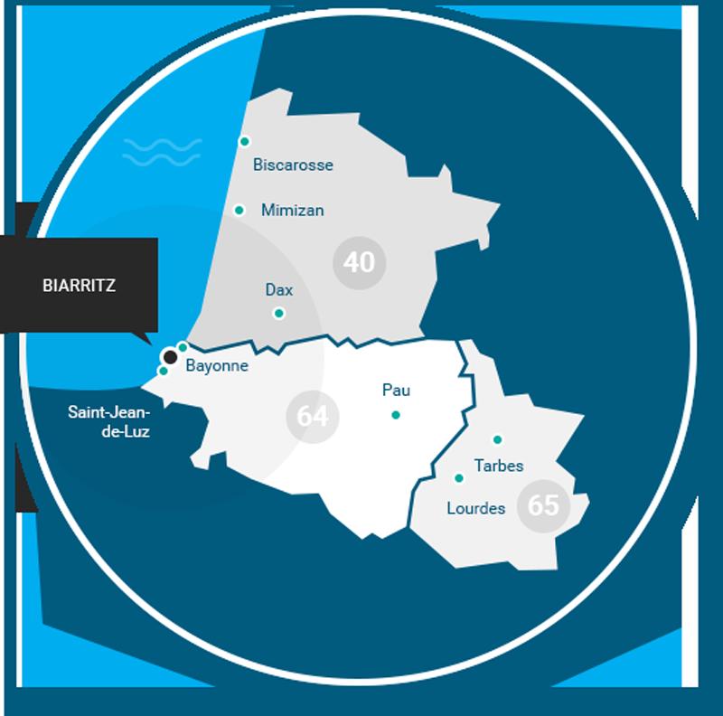 carte de compétence de la SCP Olivier UGOLINI - Delphine LACROIX-UGOLINI Huissiers de Justice à Biarritz en Pyrénées Atlantiques (64)